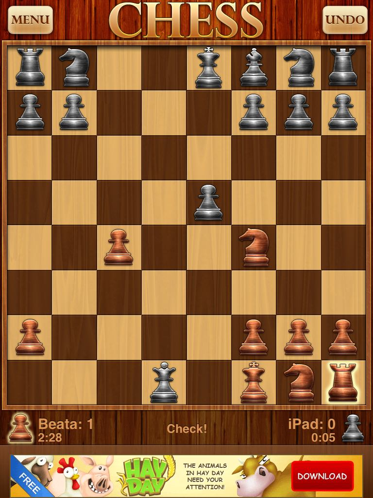 Optime Chess - Another incorrect check